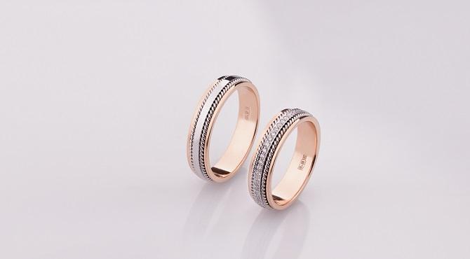 Обручальные кольца с косичкой или плетением
